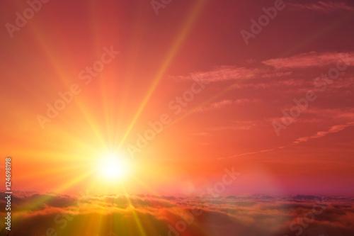 Fototapeta 雲海と太陽