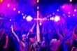 canvas print picture - blur club party