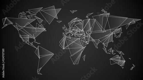 Fototapeta świat trójkąty wektor obraz