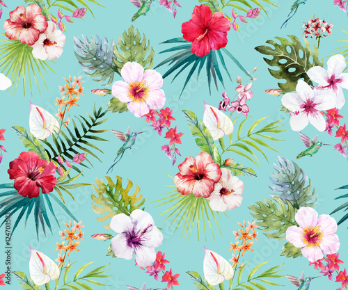 watercolor-tropical-floral-pattern