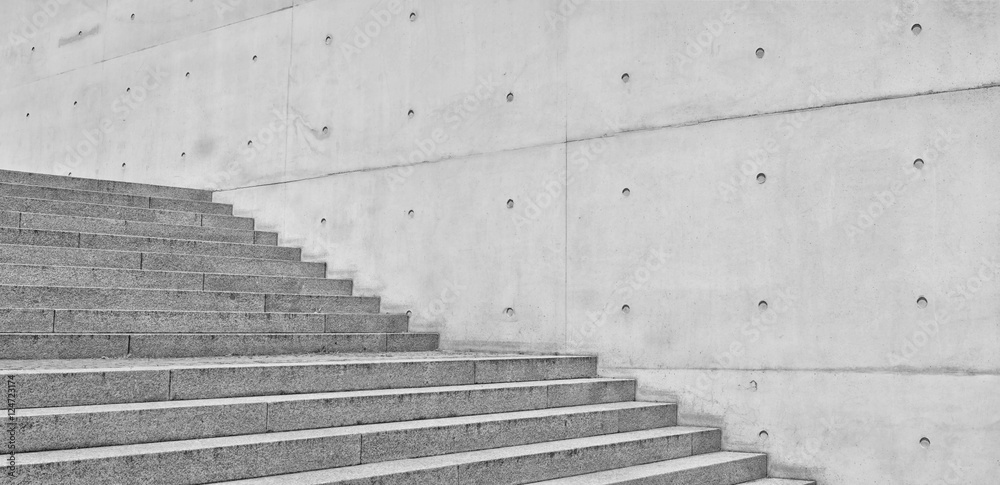 Fototapety, obrazy: concrete wall and staircase