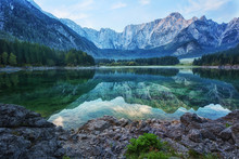 Early Morning On The Lake Fusine, Julian Alps, Italy