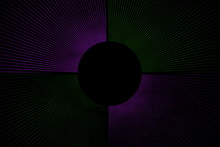 Line Explosion On A Purple And Dark Green Background With A Circle
