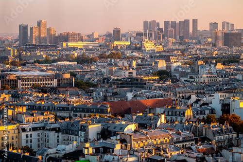 Poster Turquie Aerial view of Paris, France. Rooftops and architecture.