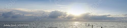 Lichtstimmung über der Nordsee, Norddeich, Norden, Niedersachsen, Deutschland, Europa