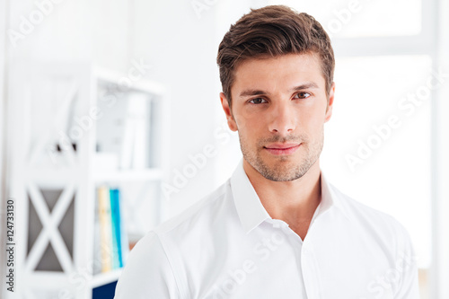 Closeup portrait of a confident businessman