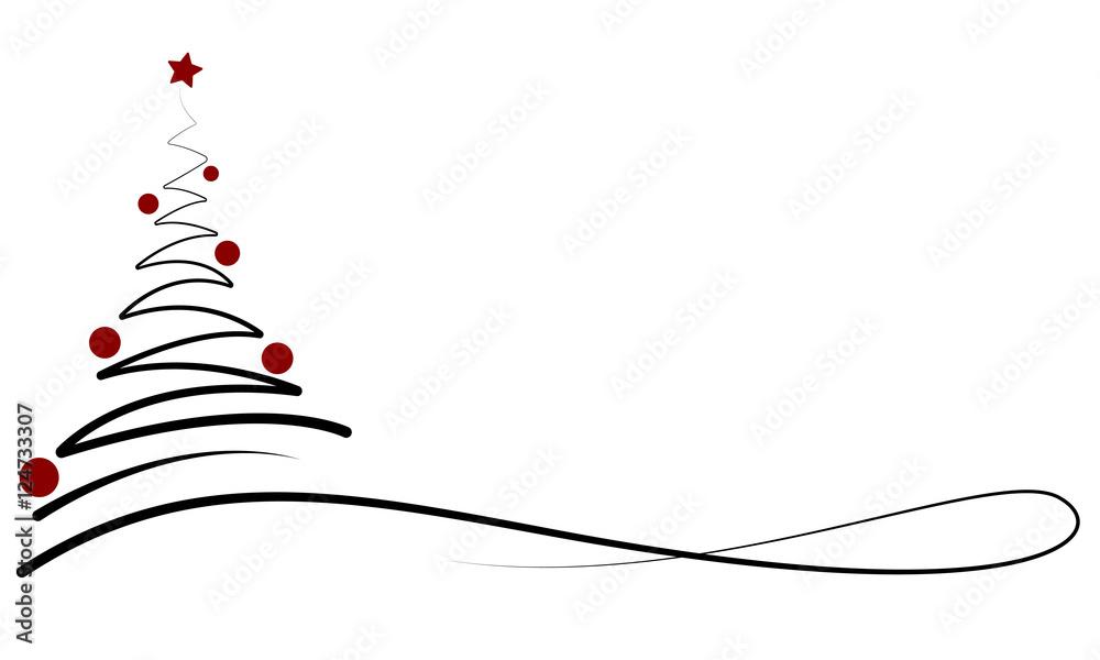 weihnachten banner mit weihnachtsbaum schwarz rot foto. Black Bedroom Furniture Sets. Home Design Ideas