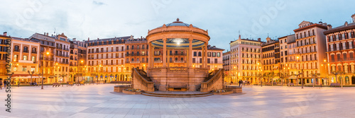 Panorama of Pamplona Market Square