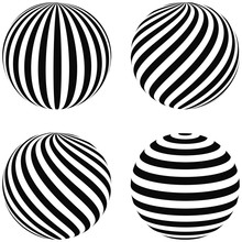Set Striped Balls