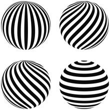 Set Striped Balls