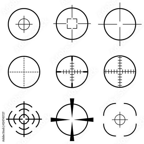 Fotografía  Set of crosshair scope target