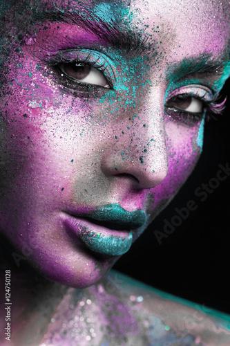 Fotografie, Obraz  Women's makeup as an art