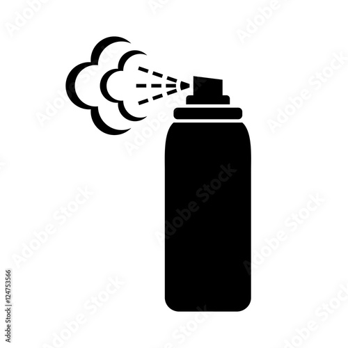 Photo Black spray can icon on white background