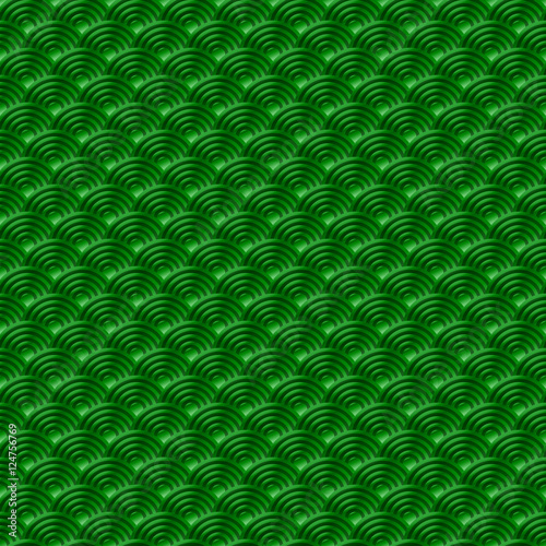 Chinese green seamless pattern dragon fish scales simple