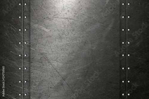 Keuken foto achterwand Leder Abstract metal background with rivets