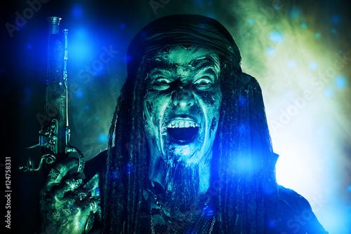 Cadres-photo bureau Inspiration painterly zombie pirate
