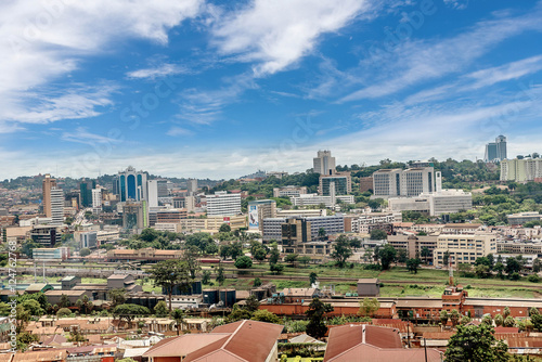 View from the above of the Capital city Kampala in Uganda #124762768
