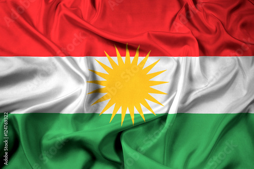 Fotografie, Obraz  Waving Flag of Kurdistan