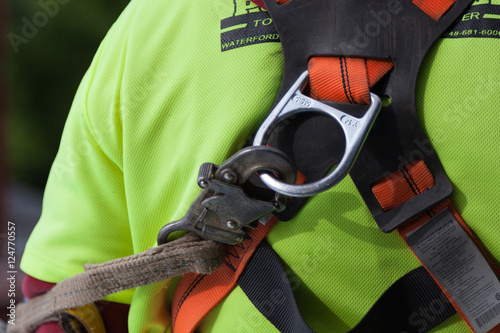 Fall arrest harness construction site safety Canvas-taulu