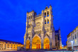 Leinwanddruck Bild - Notre-Dame of Amiens Cathedral. Vast, 13th-century Gothic edifice, famous for lavish decoration & carvings, with 2 unequal towers.