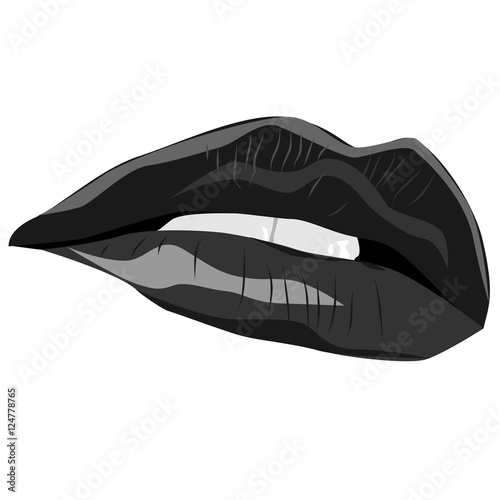 500_F_124778765_i2oXNbR2bPLgEoXHx9K6RSccwt8NwP2V black and white sexy lips vector illustration the mouth is half