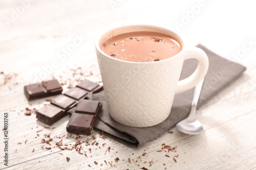 Spoed Foto op Canvas Chocolade chocolate milk