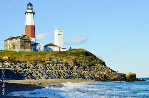 Fényképezés  Montauk Lighthouse in Long Island, New York, USA.