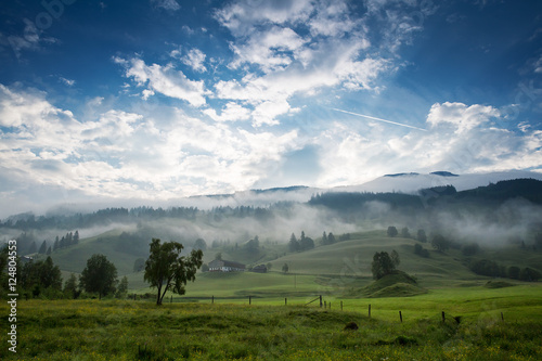 Morning in the Alps, Austria, Rauris. Nature landscape