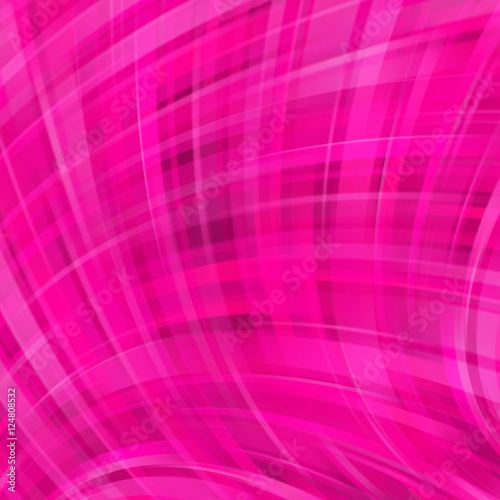 Vector illustration of pink abstract background with blurred light curved lines Poster