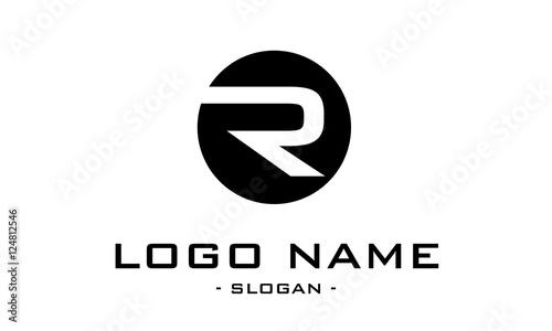 Photo  logo r flat