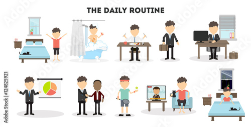 Fotografía  Businessman daily routine