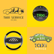 Taxi, cab set of vector logo, icon, symbol