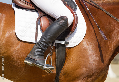 Jockey riding boot Fototapeta