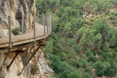 Poster Kaki El Caminito del Rey dangerous footpath over wall