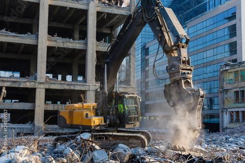 Fototapeta Building demolition