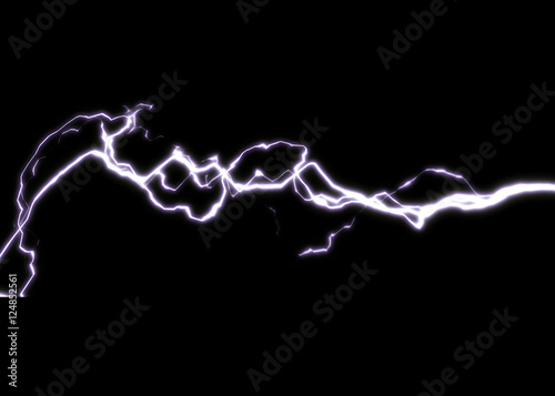 thunderbolt graphic image Canvas Print