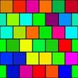 Squares multicolor vintage or retro background. Old time texture reminiscent 8 bit graphics.