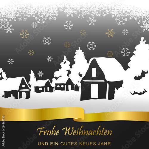 Foto-Doppelrollo - Winterlandschaft - Gold (von ii-graphics)