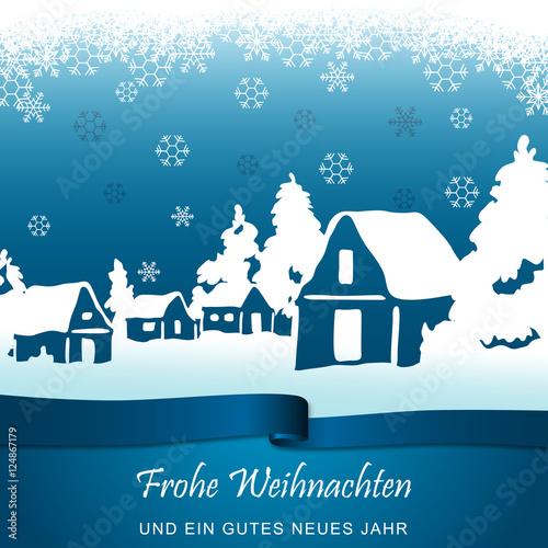 Foto-Doppelrollo - Winterlandschaft - Hellblau (von ii-graphics)