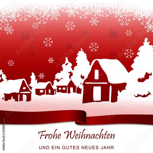 Foto-Doppelrollo - Winterlandschaft - Rot (von ii-graphics)