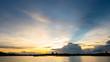 sunset on the lake landscape