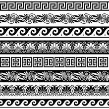 Ancient Greek Pattern - Senseless Set Of Antique Borders From Greece