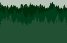 Green Forrest Silhouette