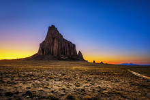 Sunset Above Shiprock In New M...