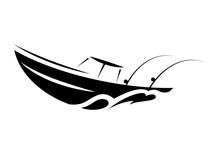 Symbol Fishing Boat, Vector