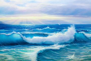 Panel Szklany Marynistyczny painting seascape