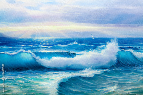 painting seascape - 124881587