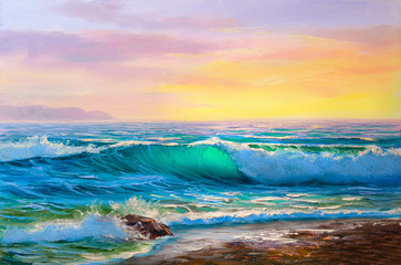 Plakat painting seascape