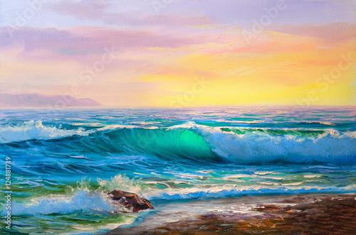 Zdjęcie XXL malowanie seascape