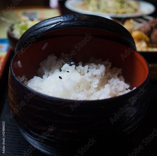 Photo  Japanese white rice